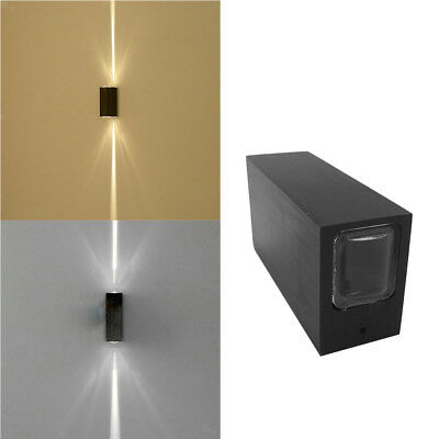 6W Narrow Beam LED Wall Light Up Down Indoor/Outdoor Waterproof Sconce Lamp