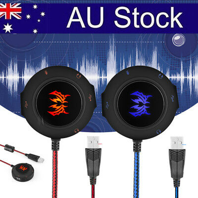 AU STOCK EACH 2.0 USB External Sound Card Stereo Audio Adapter Cable for PC Lapt