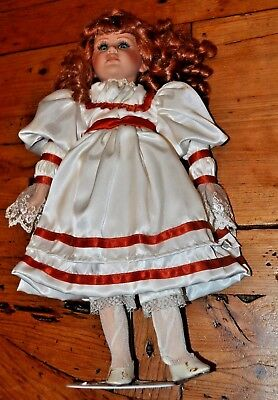 "18"" Seymour Mann Connoisseur Collection Porcelain Doll Beautiful RED Hair"