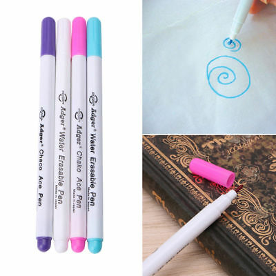 4X Water Erasable Pen Embroidery Cross Stitch Grommet Ink Fabric Marker Washable