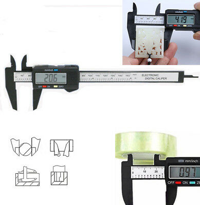 150mm LCD Electronic Digital Vernier Caliper Gauge Measure Micrometer New