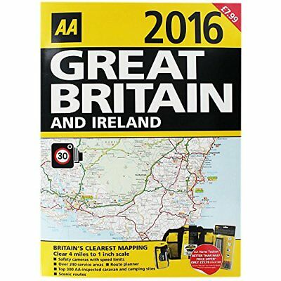 AA 2016 Great Britain And Ireland Road Atlas,GOOD Book