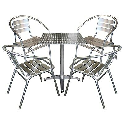 bistro set bistrotisch aluminium h henverstellbar 60x60cm. Black Bedroom Furniture Sets. Home Design Ideas