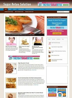 Sugar Detox Diet Blog & Website With Uk Affiliate Store + Banners & New Domain
