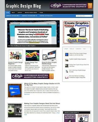 Graphic Design Website With Uk Affiliate Options + Free Domain & Hosting