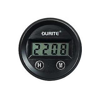 Durite 12/24V Illuminated 52mm Digital Clock Gauge With LCD Display 0-523-04
