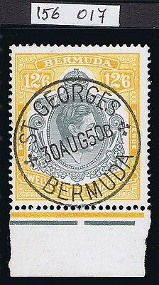 Bermuda 1938 SG120d 12/6 Grey and Yellow Perf 14 with RPS Cert Stunning Cat.£500