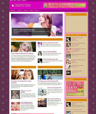 Beauty Blog & Website With Uk Affiliate Store Pages And Banners + Free Domain