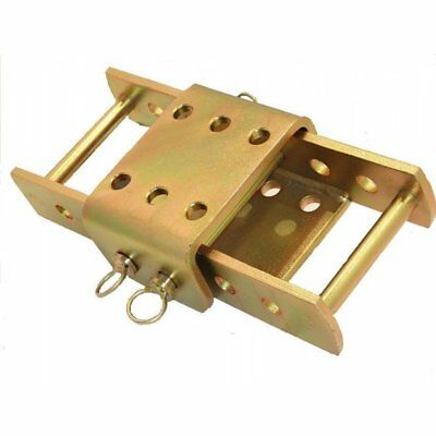 Adjustable Tow Hitch Drop Plate 2 Pin 370MM Land Rover 4x4 Towing Towbar Trailer