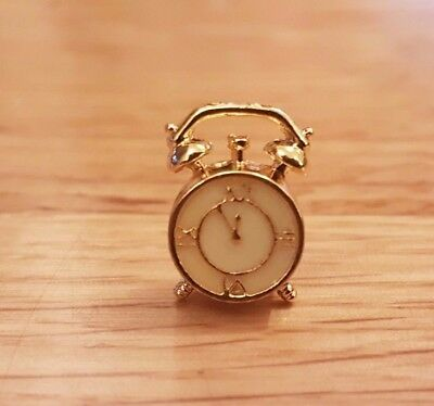 ALARM CLOCK traditional bell style for Dolls house 1:12th scale bedroom DH42