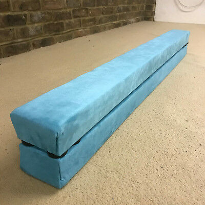 finest quality gymnastics balance beam folding/easystore 12ft long  TURQUOISE