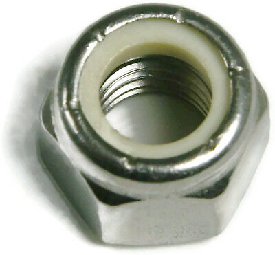 """Stainless Steel Nylon Insert Lock Nuts Nylock Inch Size 1/4""""-20 to 1""""-8 - QTY 25"""