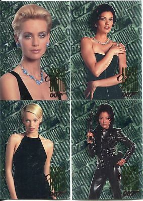 James Bond Tomorrow Never Dies Complete Women Of Bond Chase Card Set W1-4