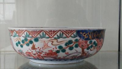 Superb Early 19 C Japanese Export Large Kakiemon  Arita Porcelain Bowl  1820