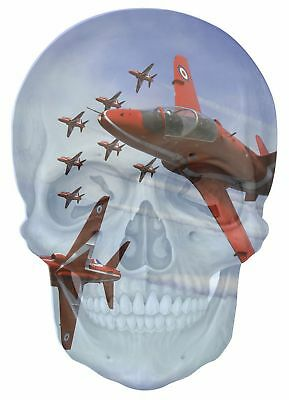 Huge 3D Arched Window Red Arrows Fly past View Wall Stickers Film Decal 412