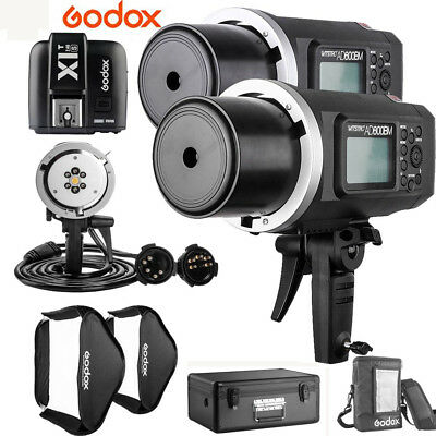 US 2pcs Godox AD600BM 600W HSS Flash+AD-H1200B+80*80cm Softbox+X1T-S For Sony