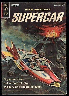 Supercar (1962) #3 1st Print Gerry Anderson Puppetoons TV Show Painted Cover VG