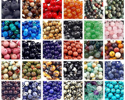Wholesale Natural Gemstones Loose Round Spacer Loose Beads 4mm 6mm 8mm 10mm 12mm