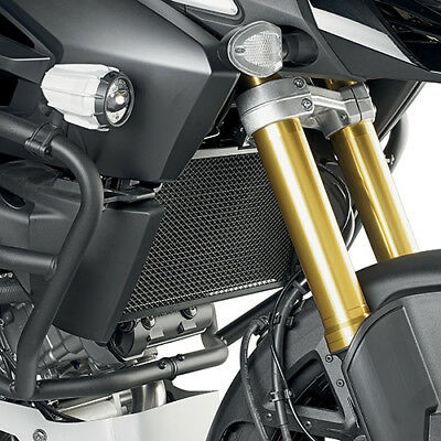 Stainless Steel Black Radiator Guard Suzuki DL 1000 V Strom <2017