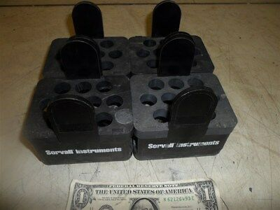 4 Sorvall Instruments Dupont Swing Bucket Inserts 4-00884 Black 10 Tube Capacity