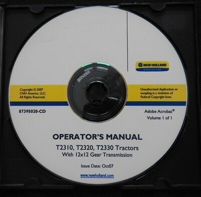 NEW HOLLAND T2310 T2320 T2330 TRACTOR 12x12 GEAR new holland t2330 t2320 t2310 tractor electrical platform service