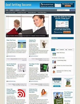 Goal Setting Blog / Website For Sale - Uk Affiliate Store Banners & Free Domain