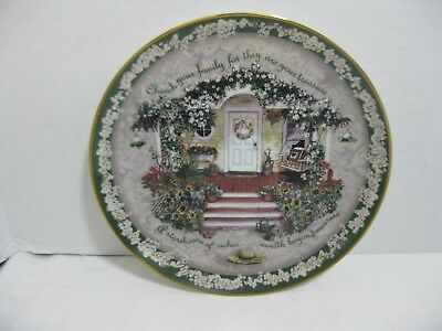 Bradford Exchange Collector Plate Cheris Your Family 1st Series Glenna Kurz 1998