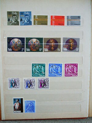 A Selection Of Early Q.E.II Mint Stamps From Malta