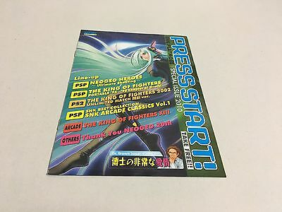 PRESS START! SNK PLAYMORE SPECIAL ISSUE 2010 TOKYO GAME SHOW booklet NEO GEO