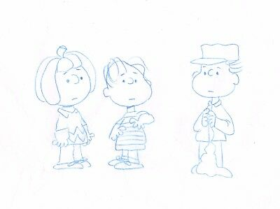 Peanuts Charlie Brown Original Production Animation Cel drawing 1975