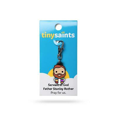Tiny Saints Fr. Stanley Rother CHARM - Paracord, Bracelets, Backpacks, Gifts NEW