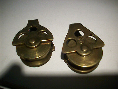 Brass Merriman Block Pulley With Shackle Sail Boat Hardware