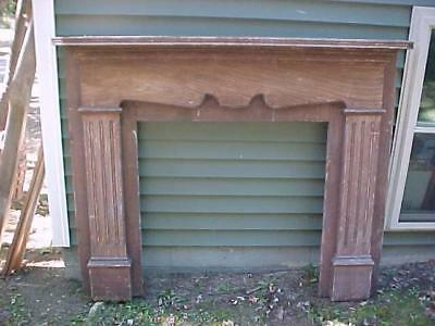 1860's 1870's GRAIN PAINTED PINE FIREPLACE MANTLE COUNTRY VICTORIAN ORIGINAL