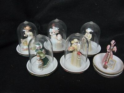 Avon Mrs Albee Figurines With Plates & Domes