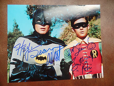 ADAM WEST BURT WARD autograph auto BATMAN & ROBIN hand SIGNED 8X10 inscribed $$$