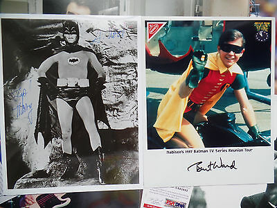 ADAM WEST BURT WARD autograph auto signed BATMAN & ROBIN Suggestive Pose 8X10