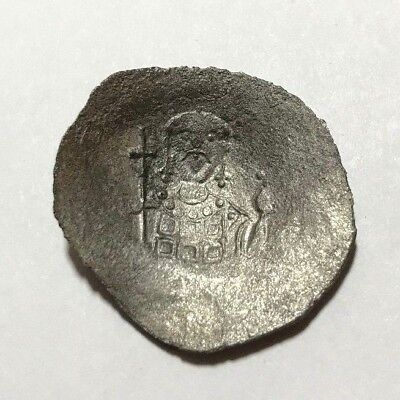 Ancient Byzantine Empire, Alexius I, 1081-1118 AD. Billon aspron trachy Cup coin