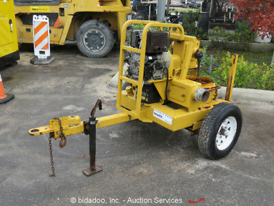 2015 Small Line SL4DDPH 4'' Double Diaphragm Pump Towable Hatz Diesel bidadoo