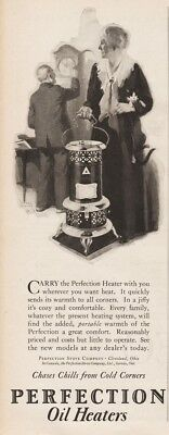 1926 Perfection Stove Cleveland OH Antique Portable Oil Heater Harry Slater Ad