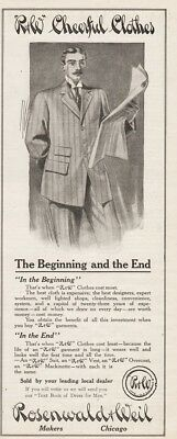 1909 Rosenwald Weil R&W Cheerful Clothes Suit Vest Overcoat Mens Fashion Ad