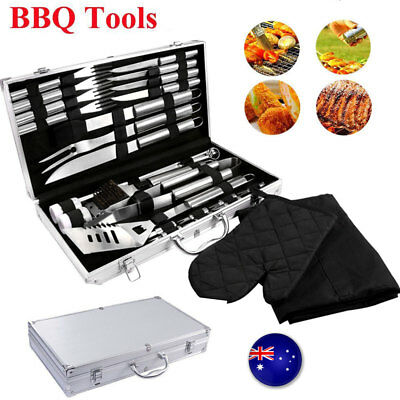 33Pc Bbq Tools Barbecue Utensil Camping Set Stainless Steel Cutlery Garden Home