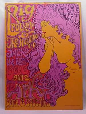 1967 Janis Joplin Big Brother & The Holding Company The Ark Sausalito Poster