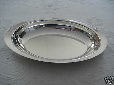 """Lovely Silver Plate 11.25"""" Serving Tray-Handles Under Rim-Gently Used"""