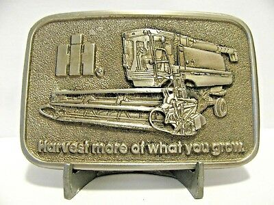 IH International Harvester Harvest More of What You Grow Combine Belt Buckle IHC