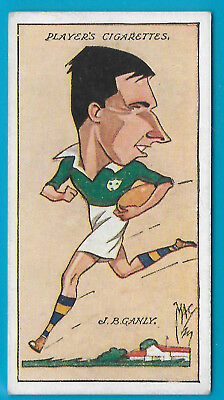 JOHN PLAYER 1927 CARICATURES BY MAC J.B.GANLY RUGBY Cigarette Card # 40 of 50