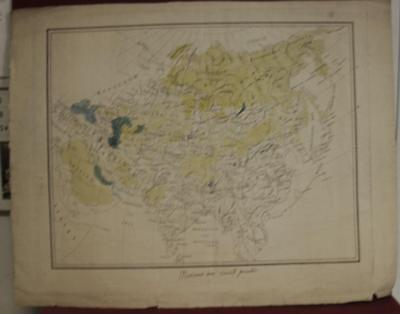 ASIAN CONTINENT & RUSSIAN EMPIRE 1780ca ANONYMOUS ANTIQUE COPPER ENGRAVED MAP