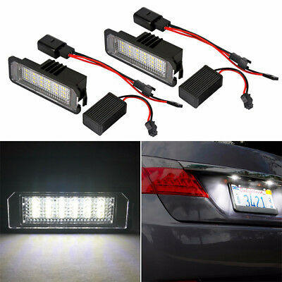 24 SMD Canbus LED License Number Plate Light For VW Golf GTI MK6 MK5 Passat