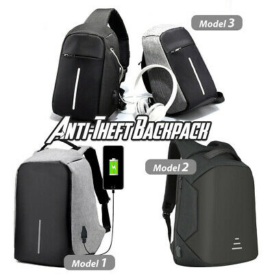 Anti-Theft Laptop Backpack Travel Bag Water Repellent w/ USB Port Travel Busines