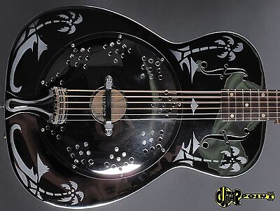 1979 Dobro Model 33H  Round neck Resonator Guitar -Metal Body- Hawaian Motives