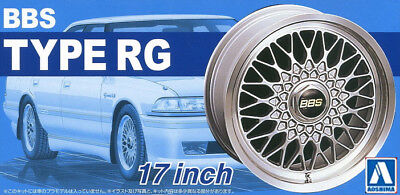 Aoshima Models 1/24 17inch BBS RG Wheels and Tyres Set (4 Wheels + 4 Tyres)